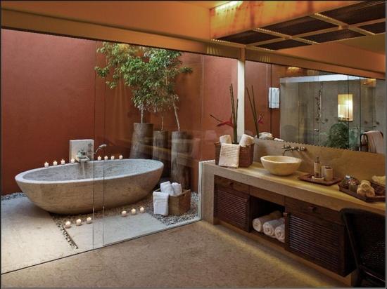 Banyolarda Spa Dekorasyonu