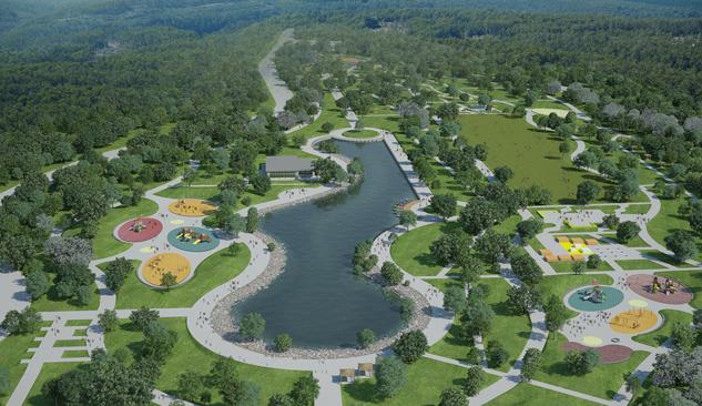Vakıf Parkı İnşaatı Devam Ediyor