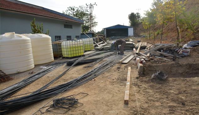 İçme Suyu Arıtma Tesisi'ne Klor Binası Yapılıyor