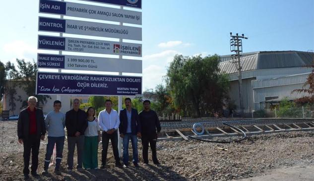 Dikili'nin İlk Çok Amaçlı Salonu'nun Yapımına Başlandı