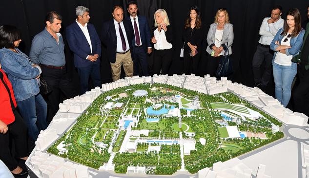 Büyükşehir CHP'ye Yeni Kültürpark'ı Anlattı