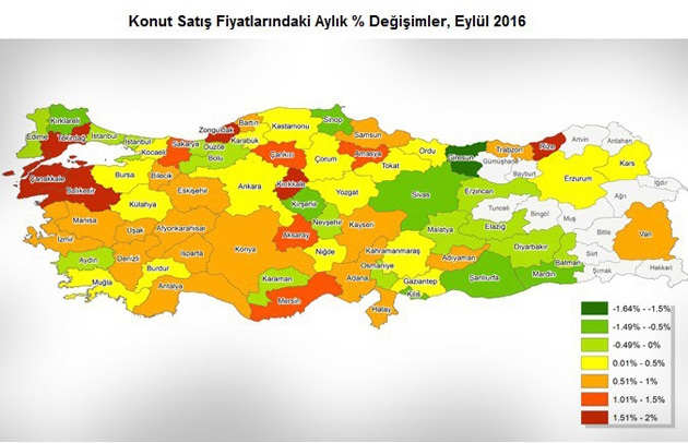 Türkiye'de Konut Fiyatları En Çok Tekirdağ'da Arttı