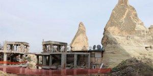 Kapadokya'daki Otel İnşaatı Durduruldu